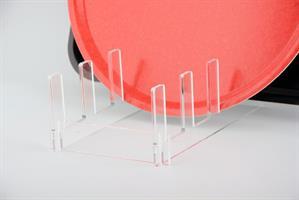 Brickställ plexiglas 4 fack