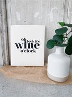Disktrasa, Wine o clock, vit/svart text