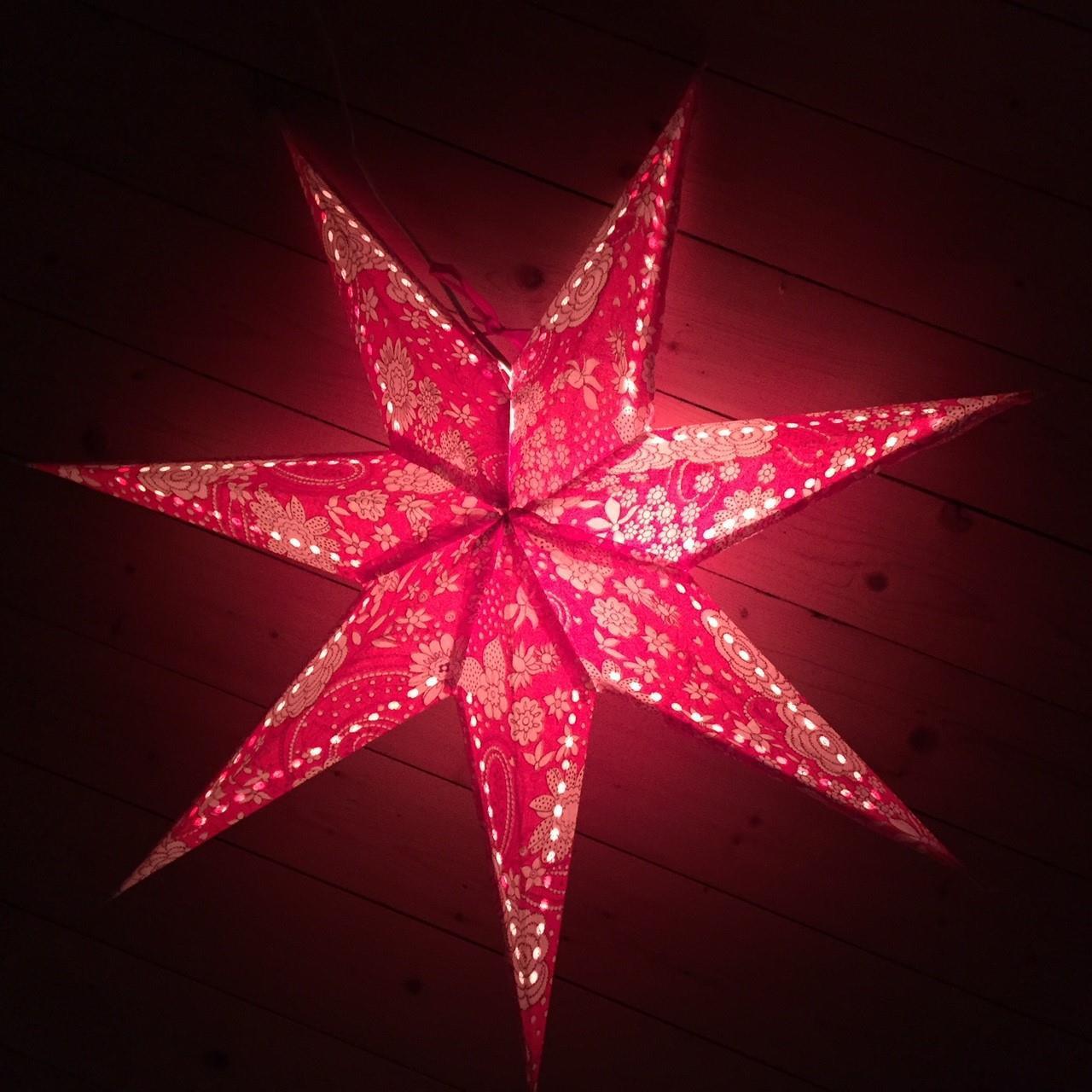 Adventsstjärna i Kyrill