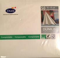Dunilin servietter, hvite 40cm 45stk.