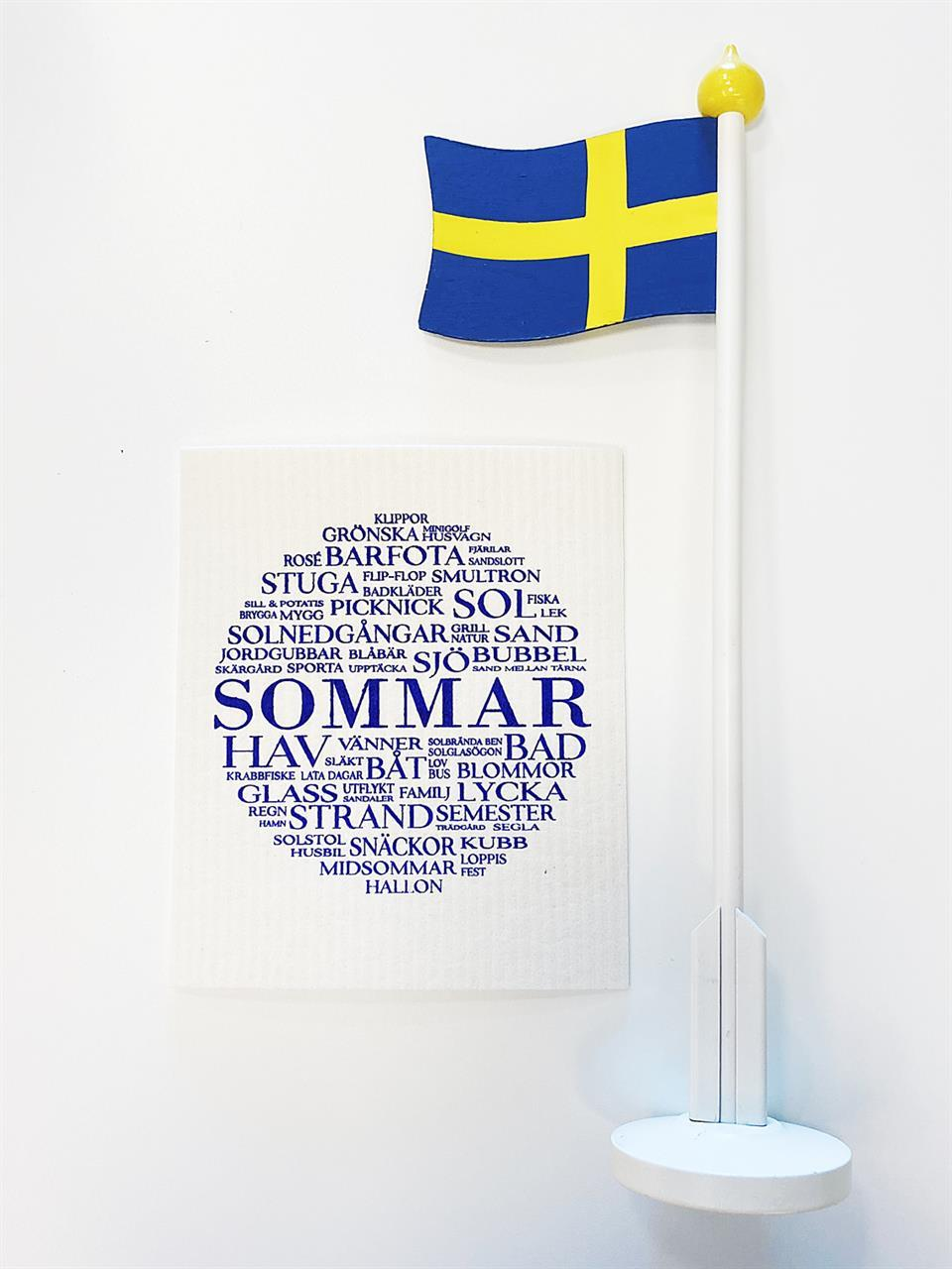 Disktrasa, Sommar, vit/blå text