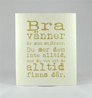 Disktrasa, Bra vänner, vit/guldtext