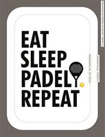 Poster 30x40 cm i ram, Padel repeat, vit/svart