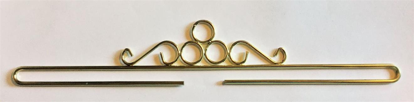 Beslag/hängare guldringar 40 cm
