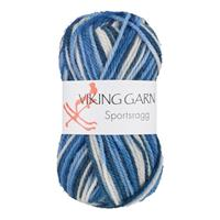 Viking Sportsragg multi vit/blå