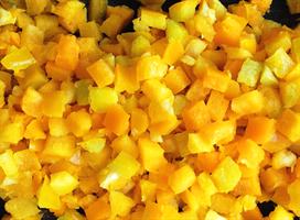 Paprika gul terning 0,5 kg