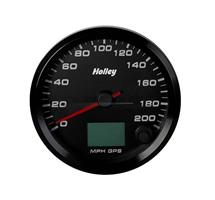 3-3/8 HOLLEY 200 GPS SPEEDO-BLK