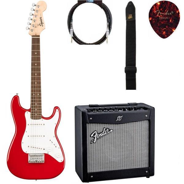 Gitarpakke mini Squier strat RD