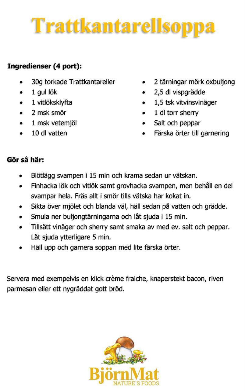 Recept - Trattkantarellsoppa