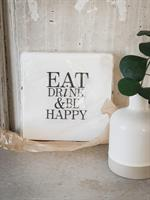 Servetter, Eat, drink, vit/svart text, 20-p