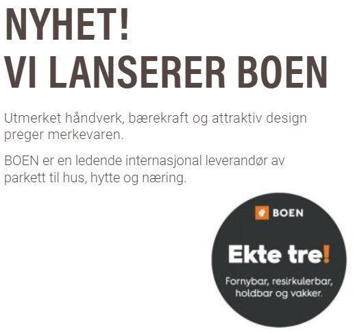 Ekte Tre as lanserer Boen