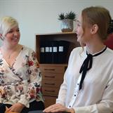 Louise och Evelina - Praktikant och handledare