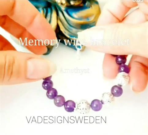 NYHET : Memory wire bracelet -amethyst