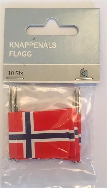Knappenålsflagg 10stk