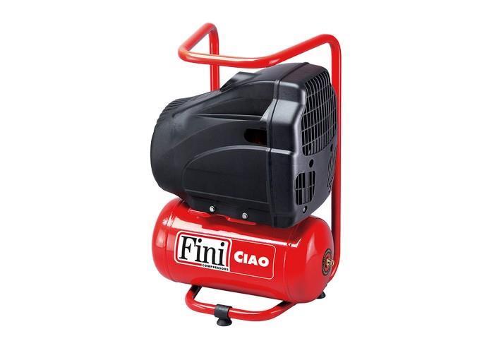 Fini CIAO 6-1850 1,1kW, 134l/min, 8bar, 6 L säiliö Öljytön mäntäkompressori