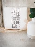 Servetter, Time to drink, vit/svart text, 20-p