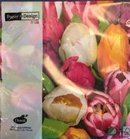 Serviett lunsj Tulip colour 3lag 20stk
