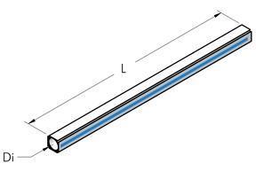 TESEO Ilmaputki AP28 NATURAL ALUMINIUM EXTRUDED PIPE L 5 m