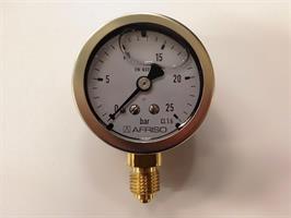 Manometer 0-25 bar gly 1/4