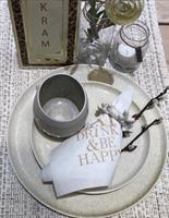 Servetter, Eat, drink, vit/guldtext, 20-p