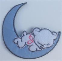 Måne, blå