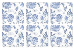 Botanic blue glassbrikker 6stk