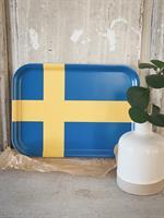 Bricka 27x20 cm, Svenska flaggan