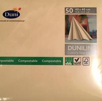 Dunilin servietter, elfenben 40cm 45stk.