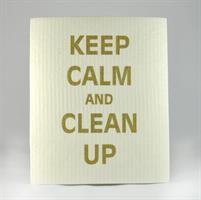 Disktrasa, Keep calm, vit/guldtext