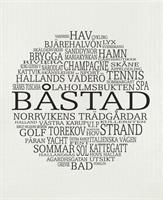 Disktrasa, Båstad, vit/svart text