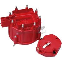 Distr. Cap and Rotor, GM HEI Distr., Red