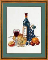 Rödvin med ostbricka