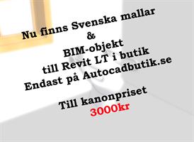 Svenska Mallar & Bim-objekt för Revit LT