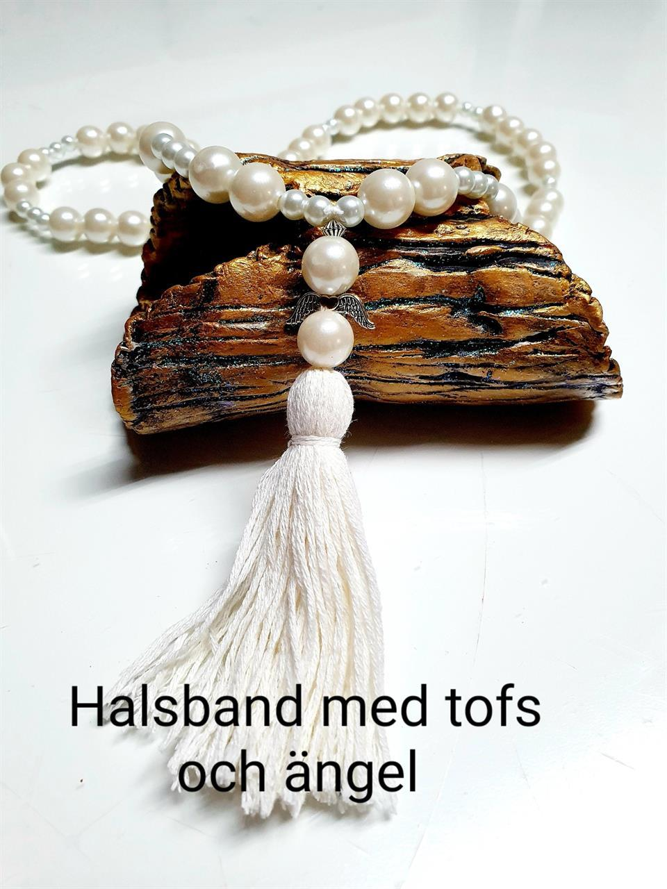 Halsband med tofs och ängel