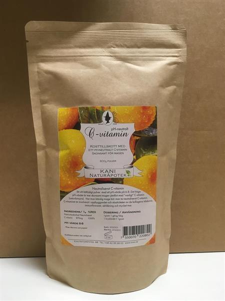 C-vitaminpulver PH-neutralt 600 g Miljöförpackning