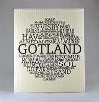Disktrasa, Gotland, vit/svart text