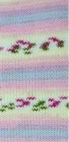 Baby marino ljusgul/rosa print