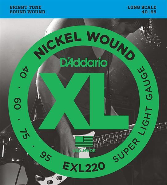 D'Adario EXL220SL bass strenger