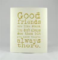 Disktrasa, Good friends, vit/guldtext
