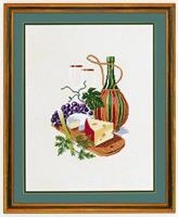 Vitt vin med ostbricka