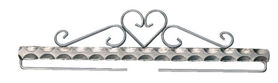 Beslag/hängare Tenn hjärta 20 - 50 cm