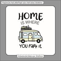 Magneter, Home is/Husbil, vit/pastell