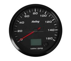 3-3/8 HOLLEY 160 GPS SPEEDO-BLK