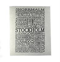 Disktrasa, Stockholm, grå/svart text