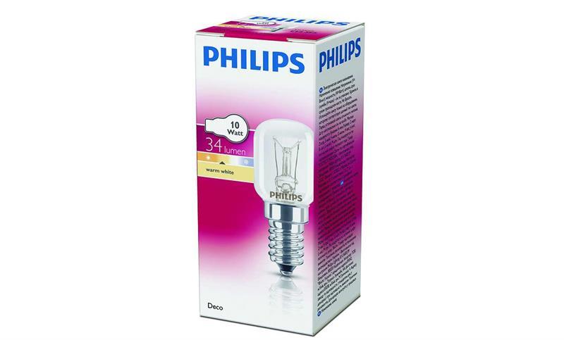 Standardrörlampa - 10w E14 klar /Philips