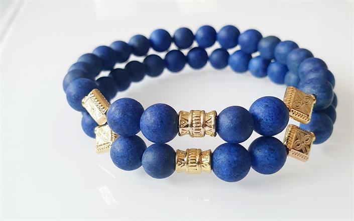 Armband blå Lapis Lazuli -Kombinera flera armband