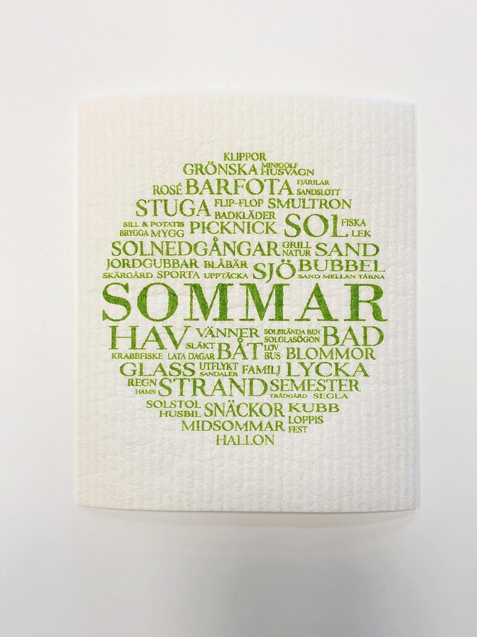 Disktrasa, Sommar, vit/grön text