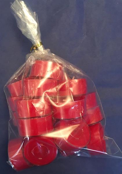 Små telys 4 timer's i plastkopp 20stk, Rød