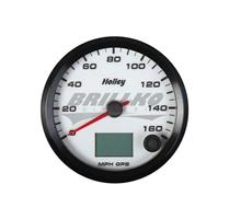 3-3/8 HOLLEY 160 GPS SPEEDO-WHT