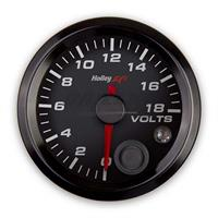 2-1/16 VOLTAGE GAUGE, 0-18V, CAN, BLACK